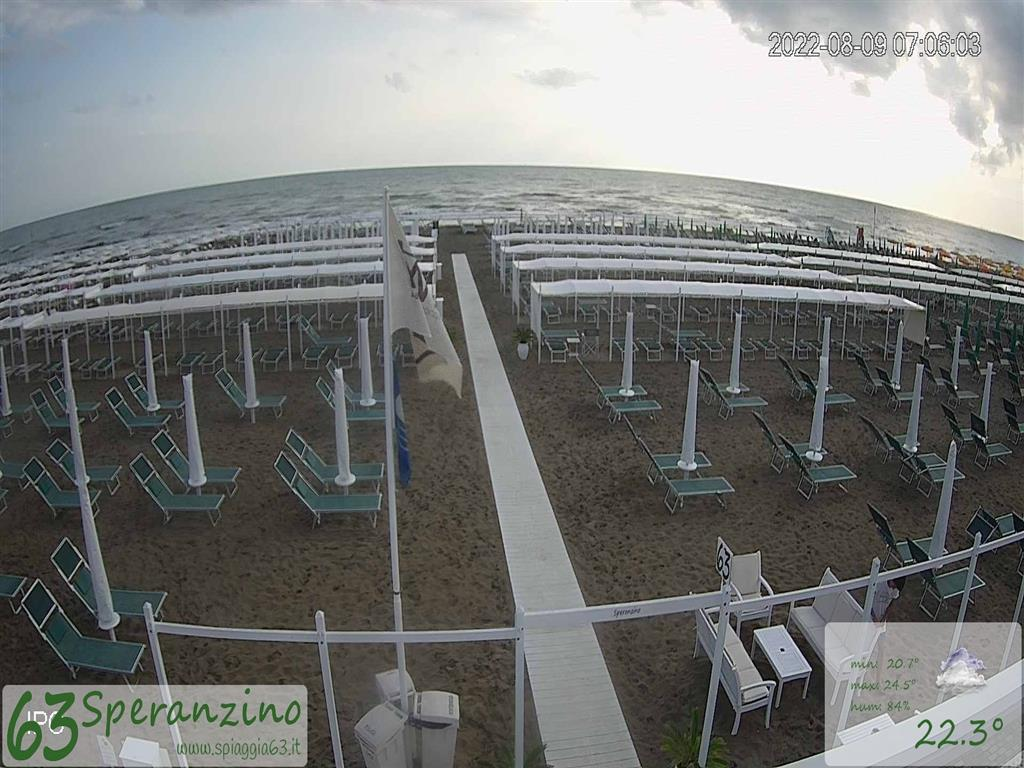 Live Webcam on Riccione Beach NOW